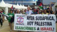 Movimento de boicote a marcas israelenses ganha adeptos pelo mundo, como Gijón, no norte da Espanha | Foto: BDS/ Divulgação