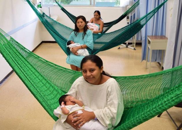 Enfermaria da maternidade do hospital rural de Hecelchakán