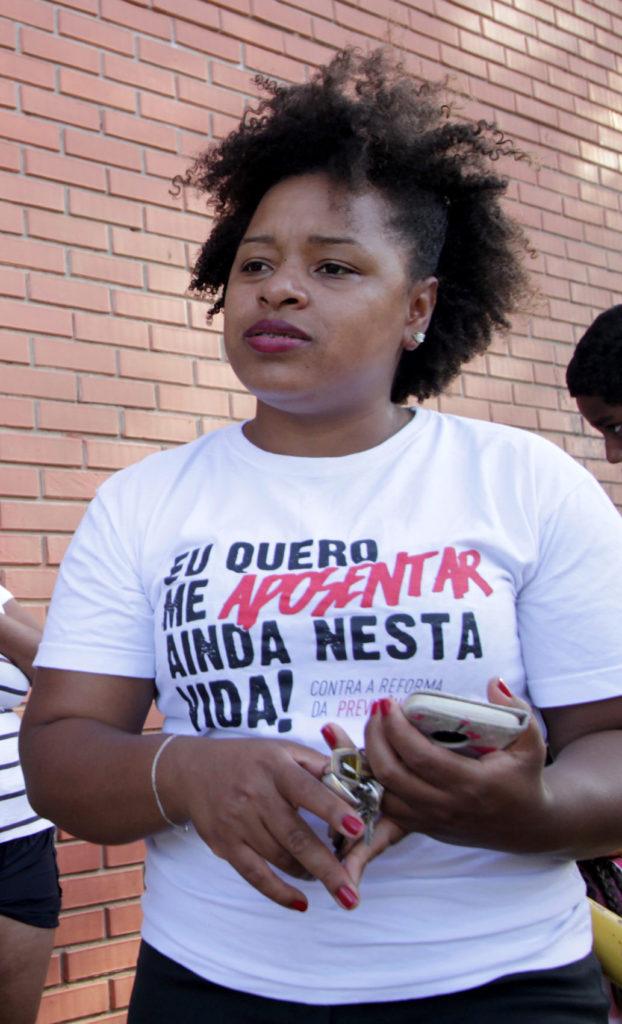 Bruna Rodrigues, representante da Associação dos Moradores e Amigos da Moab Caldas