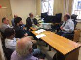 Comissão Sindical foi recebida na Justiça do Trabalho para debater leilão das unidades da Ulbra | Foto: César Fraga
