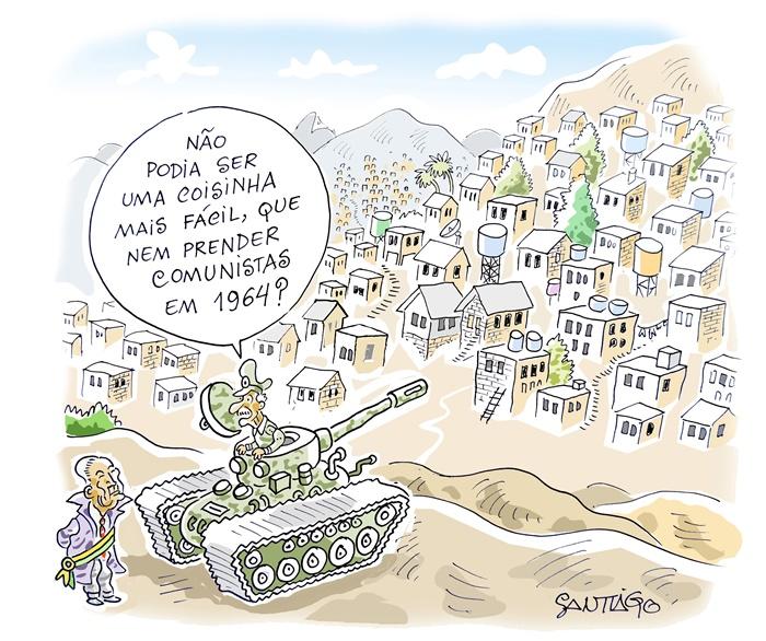 Intervenção militar no Rio de Janeiro - Charge de março de 2018