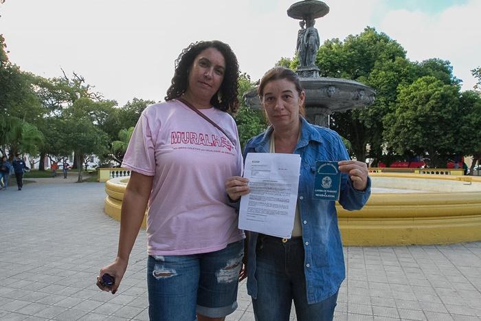 Kelly e Ivania, que atuaram nas plataformas, integram o coletivo de mulheres em defesa do trabalho e direitos
