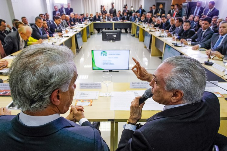 Temer, durante almoço com Frente Parlamentar do Agropecuária no Palácio do Planalto