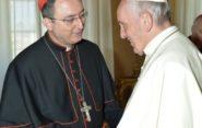Dom Sérgio esteve na última sexta-feira (6) com o Papa Francisco, em Roma | Foto: Vatican News/Divulgação
