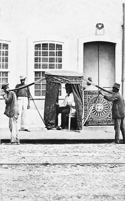 Mulher da família Costa Carvalho e escravos, 1860