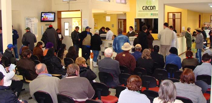 Pacientes na ala de espera do Centro de Alta Complexidade em Oncologia, do Hospital de Caridade de Ijuí