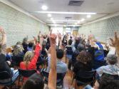 Docentes também reivindicam autonomia de gestão no Centro Universitário | Foto: César Fraga / AssCom / Sinpro-RS
