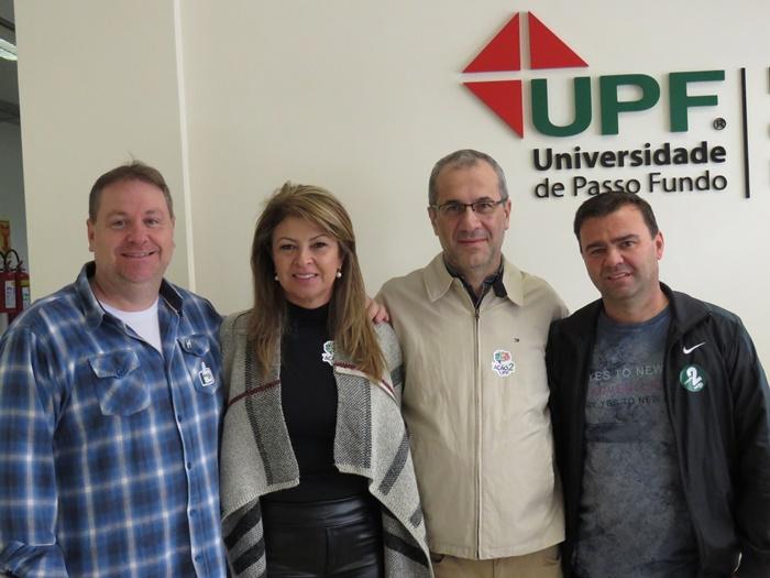 Chapa 2: Cristiano Cervi, Bernadete Dalmolin, Rogério Silva e Edison Casagranda