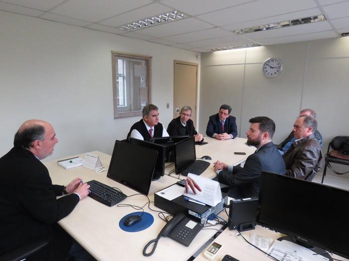 Representantes do Sinpro/RS e da Aelbra realizaram audiência com o juiz Luiz Fernando Henzel, da 3ª Vara do Trabalho