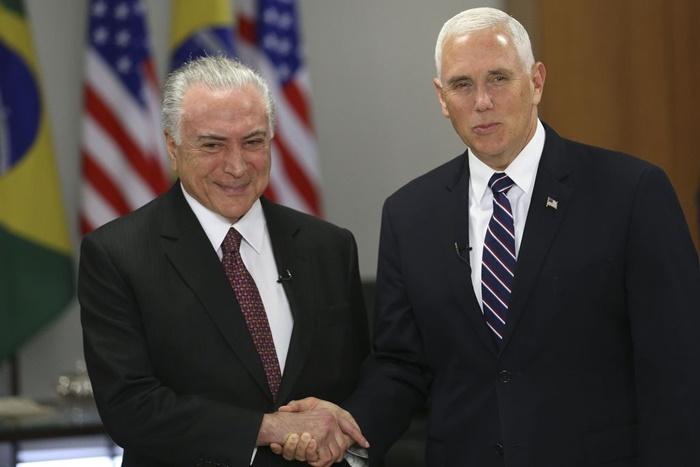 """Temer recebe o vice-presidente dos EUA, Mike Pence no Palácio do Planalto. Encontro prevê """"visita estratégica"""" a Alcântara"""