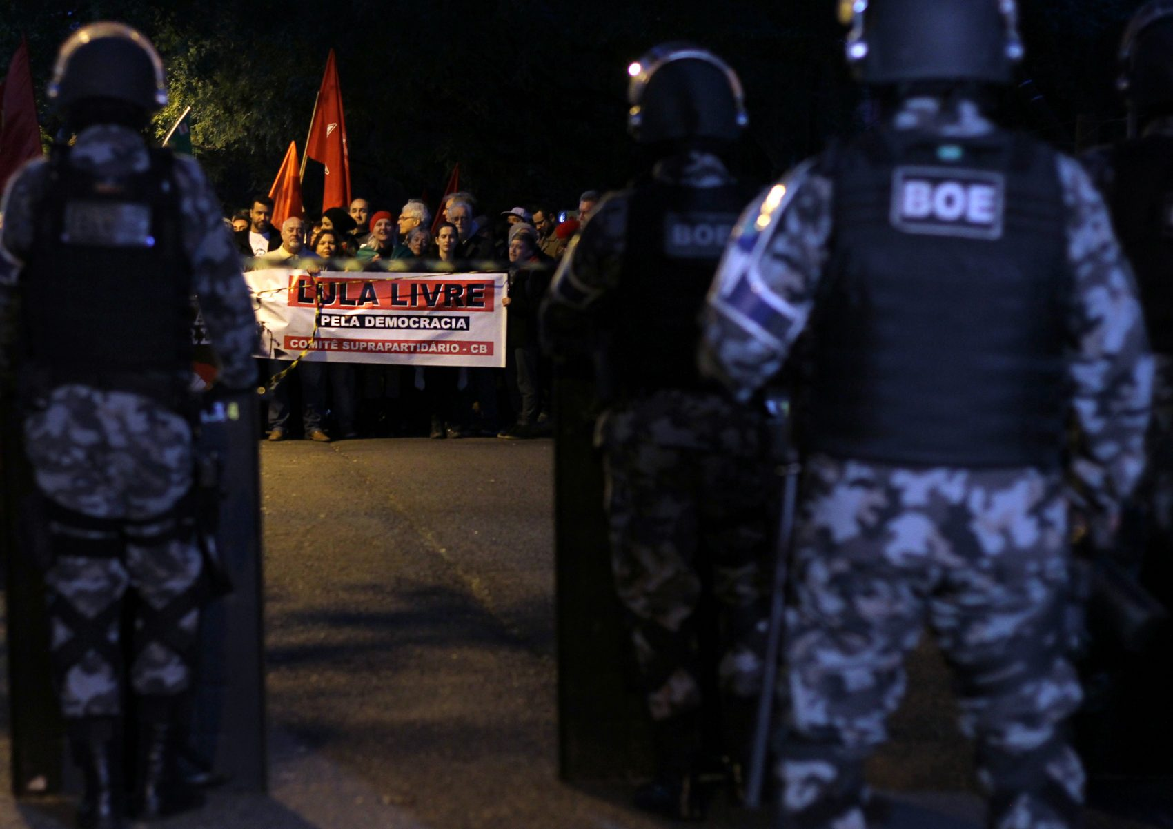 Manifestação em defesa da liberdade de Lula em Porto Alegre