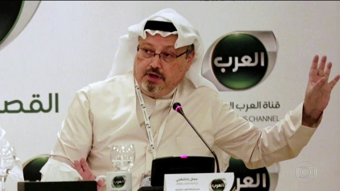 O jornalista Jamal Khashoggi, correspondente do jornal norte-americano Washington Post, assassinado no Consulado da Arábia Saudita em Istambul, no dia 2