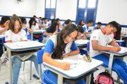 Estudantes fazem provas do Simulado Mais Ideb, no Centro Educacional João Francisco Lisboa, em São Luiz: escola pública sem mordaça | Foto: Lauro Vasconcelos/ Seduc