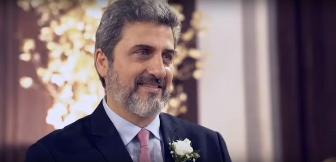 Sergio Schiller Thompson-Flores no casamento com a atriz Cristiane Machado