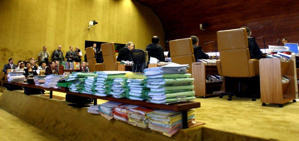 Plenário do Supremo durante votação de demarcações de terras indígenas