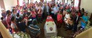 O velório de José Bernardo da Silva (conhecido como Orlando) aconteceu na capela do assentamento Zumbi dos Palmares, na cidade de Mari (PB) | Foto Christian Woa/Divulgação MST