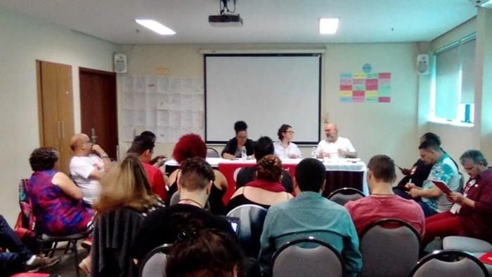 Direção do Sinpro/RS integrou evento que aconteceu em São Paulo, nos dias 12 e 13 de novembro