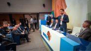 """""""Não há desespero, precisamos ter serenidade"""", disse Leite em encontro com prefeitos na sede da Famurs   Foto: Magali Beckmann/ PSDB/ Divulgação"""