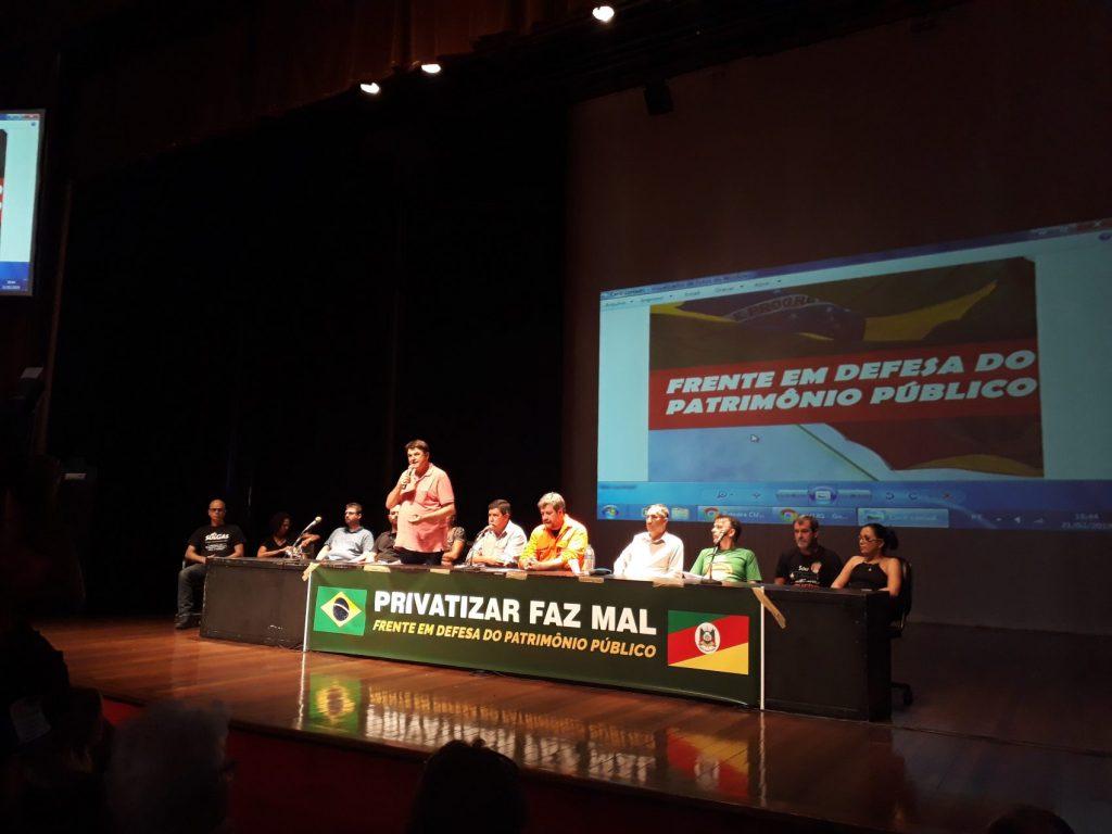 Frente defende realização de plebiscito para que a população avalie privatizaçãoes
