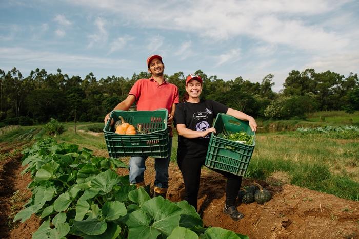 Além de arroz, o Assentamento Santa Rita de Cássia II produz hortaliças para feiras ecológicas e  o PNAE |