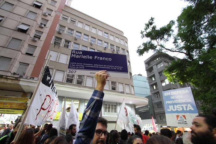 Ato contra a reforma da Previdência em Porto Alegre