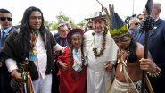 Francisco com indígenas da Amazônia peruana: a igreja católica incomoda Bolsonaro com o vanguardismo do papa | Foto: Vatican News/ Divulgação