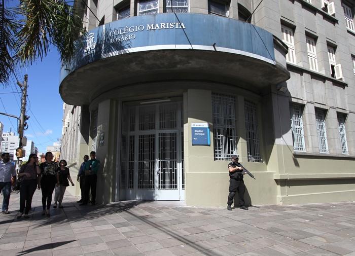 Segurança no Colégio Rosário e em outras escolas da Rede Marista foi reforçada após vazamento de suposto plano de ataque