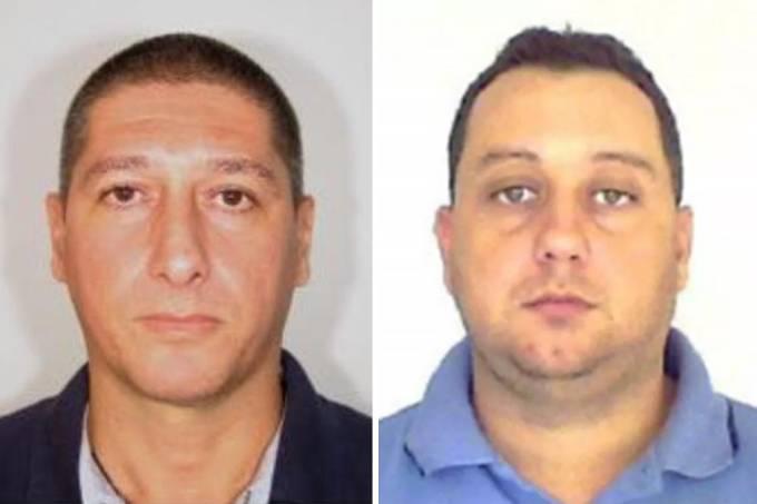 Os ex-PMs Ronnie Lessa e Élcio Vieira Queiroz são interrogados na Delegacia de Homicídios do Rio