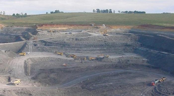 Lavra Recreio, do complexo de minas de carvão da Copelmi em Butiá