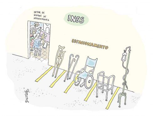 charge santiago reforma da previdência | Arte: Santiago
