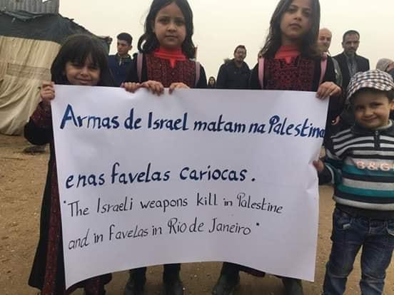 Visita do brasileiro provocou manifestações de palestinos