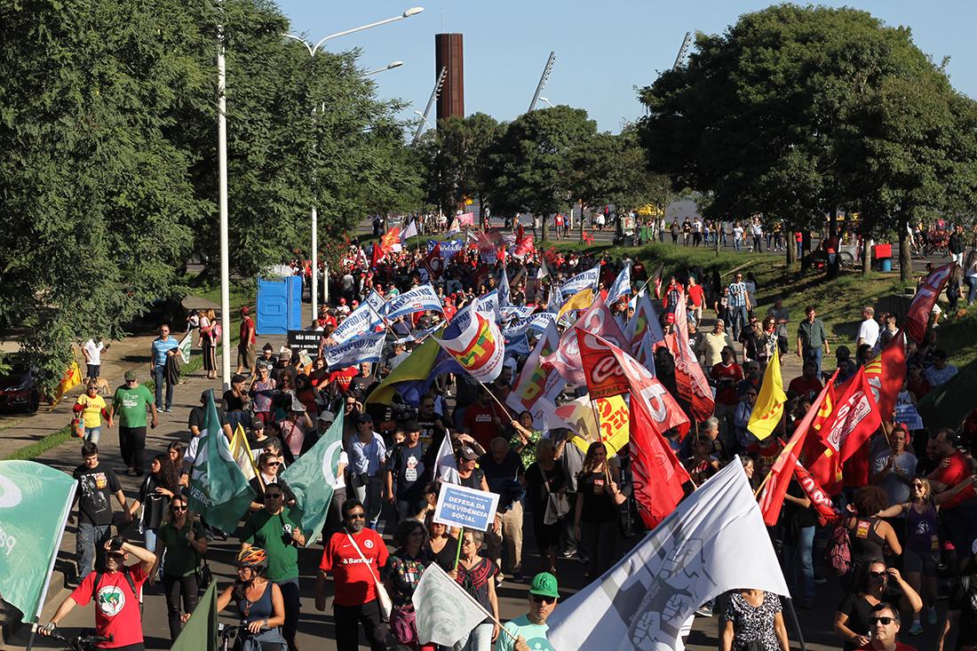Ato no Dia dos Trabalhadores contra a reforma da Previdência