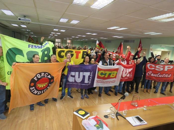 Dirigentes destacaram a unidade das centrais sindicais no estado