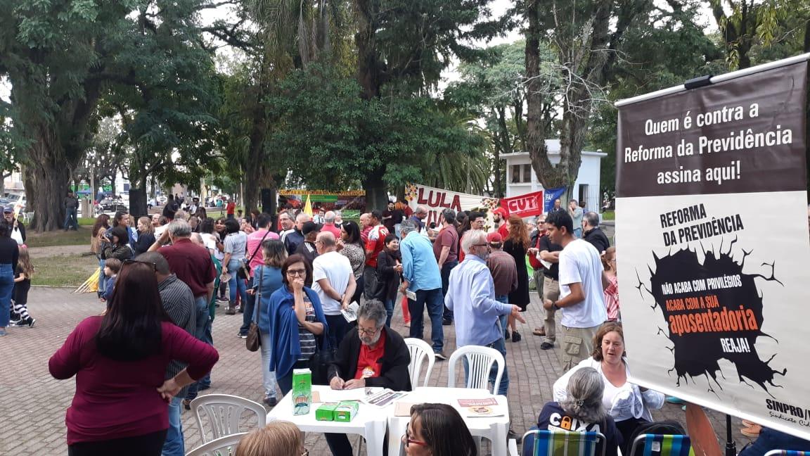 Mobilização em Pelotas (RS) contra a Reforma da Previdência