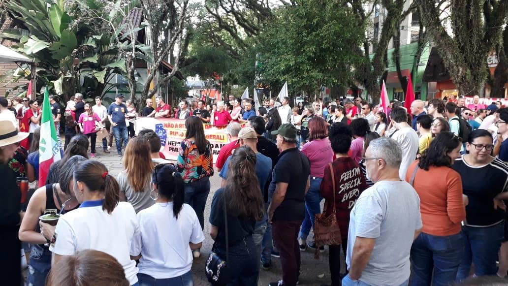 Mobilização em Santa Cruz do Sul (RS) contra a reforma da Previdência