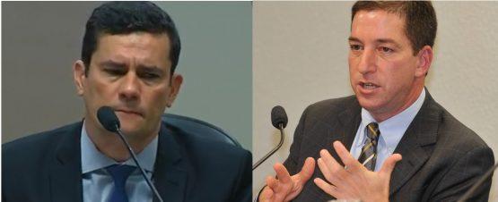 Sergio Moro e Glenn Greenwald são tema  de nota da Abraji | Foto: Reprodução/Web
