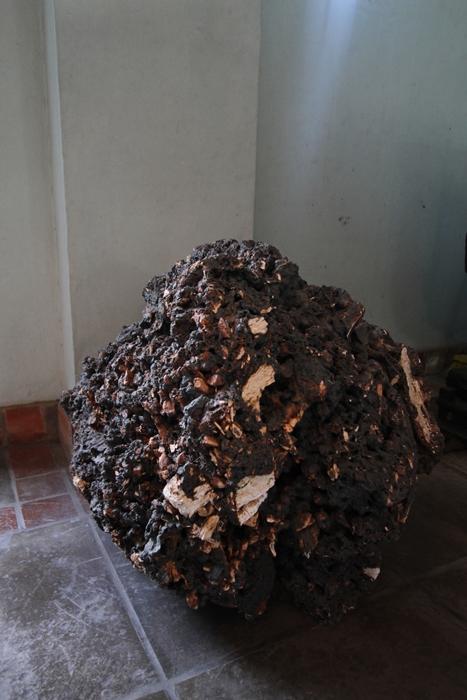 Amostra de carvão após a queima em exposição no Museu do Carvão, em Arroio dos Ratos