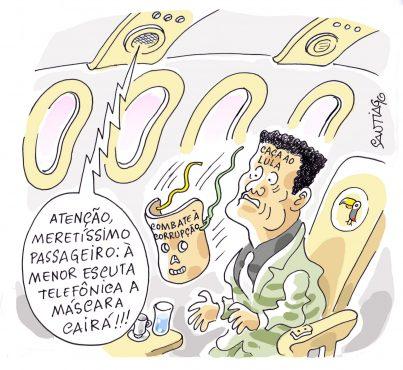 O Máscara | Charge: Santiago
