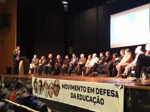 Ato contra o Future-se e cortes orçamentários lota auditório | Foto: Stela Pastore