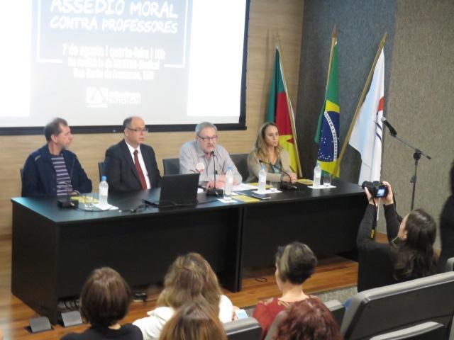 Célio Golin (Nuance), Enrico Freitas (MPF), Paulo Mors (Adufrgs) e Angela Rotunno