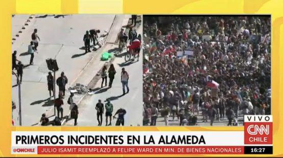 Chilenos retornam às ruas nesta terça, 29 | Foto: Reprodução CNN