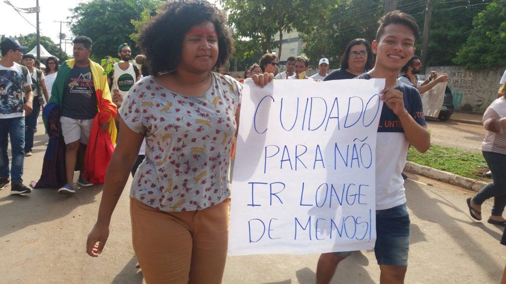 Ana Rosa Calado Cyrus, 23 anos, da ONG Engajamento: A representatividade precisa existir. Eu sou da Amazônia, e os espaços de voz aqui são muito escassos para a juventude. Se nossos passos agora não forem firmes, o que vai acontecer no nosso futuro?