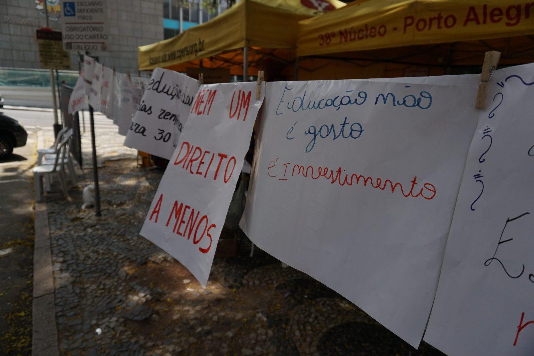 Greve dos professores estaduais - novembro de 2019
