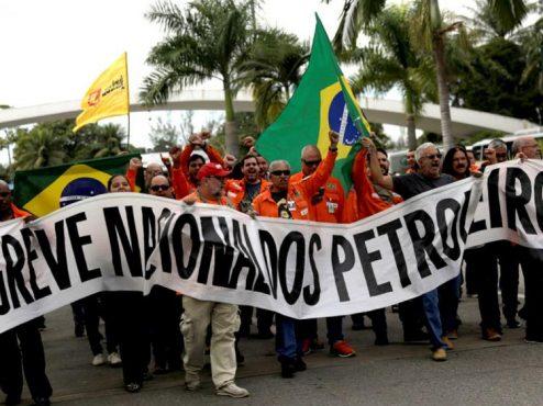 Greve dos petroleiros contra privatização | Foto: FUP/Divulgação