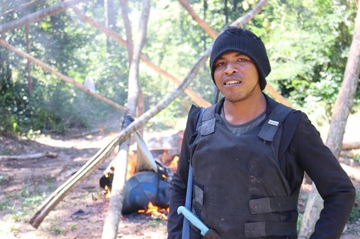 Paulo Paulino Guajajara, 26 anos, foi morto por madeireiros em uma emboscada na Terra Indígena Araribóia