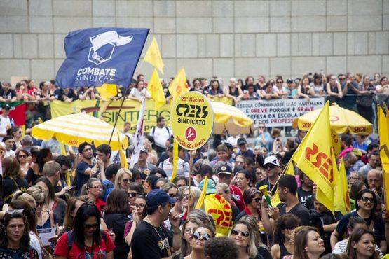 Funcionalismo aumenta pressão contra pacote do governo | Foto: Caco Argemi / CPERS - Sindicato