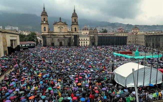 Na Colômbia, sindicatos promoveram duas greves gerais