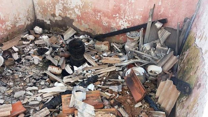 Terreiro de Candomblé destruído em Nova Iguaçu, no Rio, em março deste ano