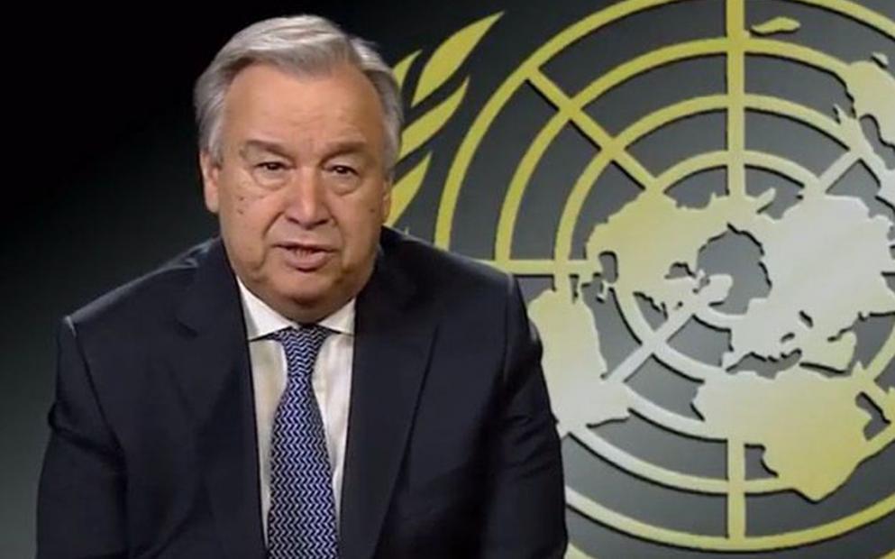 O secretário-geral das Nações Unidas, António Guterres, afirmou que as mudanças climáticas constituem uma crise da atualidade