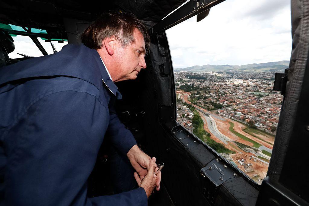 Sobrevoo das áreas atingidas pelas chuvas em Belo Horizonte e região metropolitana - MG, no dia 30 de janeiro